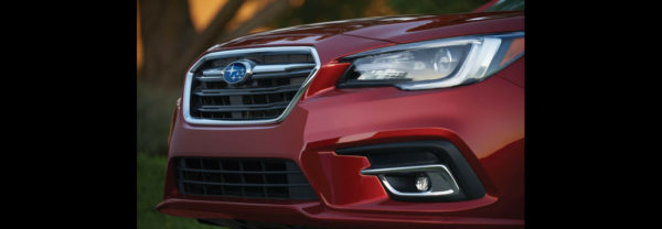 The front grille of a new Subaru car