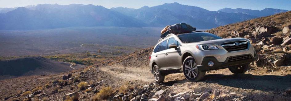 2019 Subaru Outback climbing mountain trail